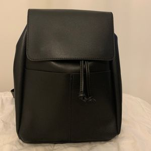 Medium Faux Leather String Backpack